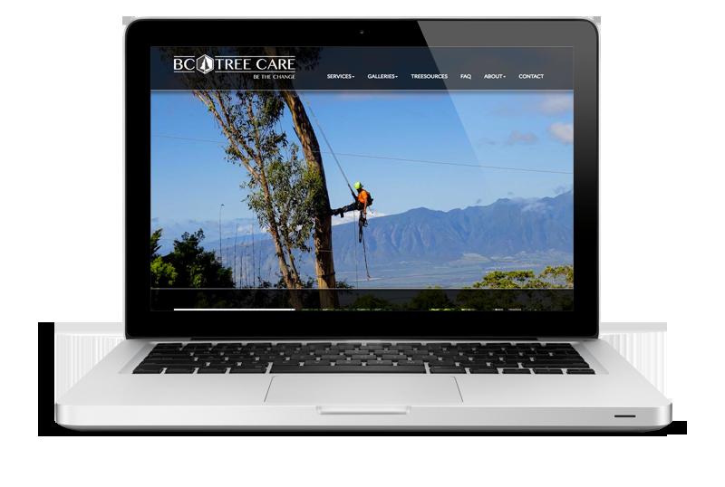Ny nettside og grafisk profil til BC Tree Care