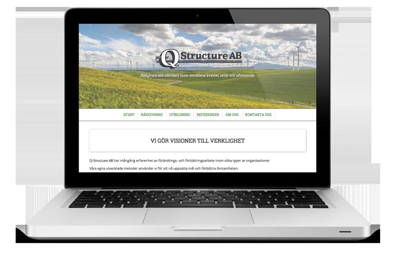 Ny nettside til Q-Structure AB