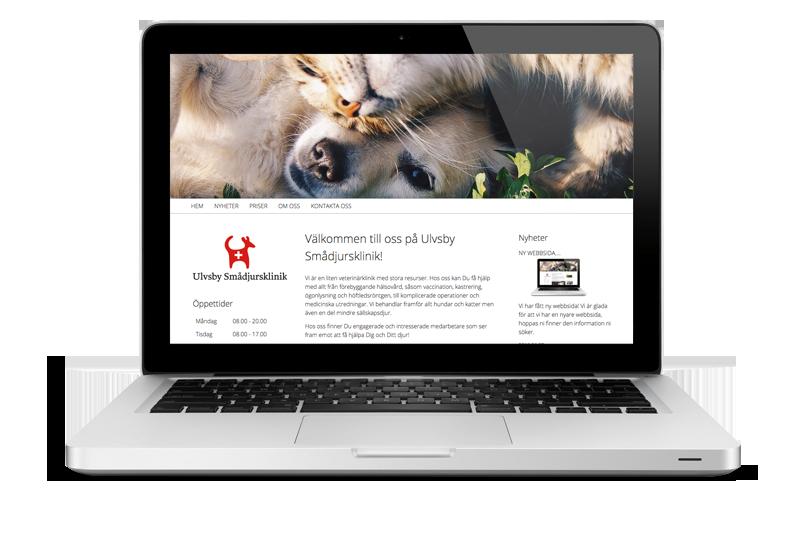 Ny nettside til Ulvsby Smådjursklinik AB