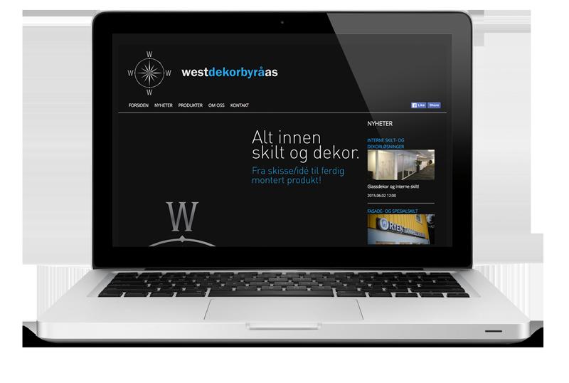 Ny nettside til West Dekorbyrå AS