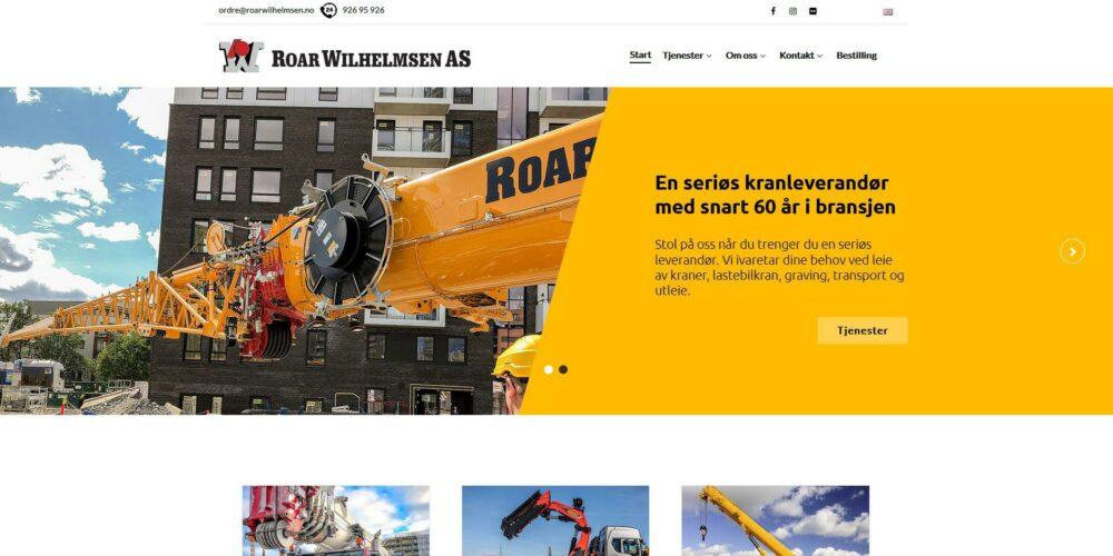 Nettside til Roar Wilhelmsen